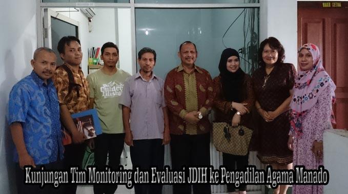 Kunjungan Tim Monitoring dan Evaluasi JDIH ke Pengadilan Agama Manado