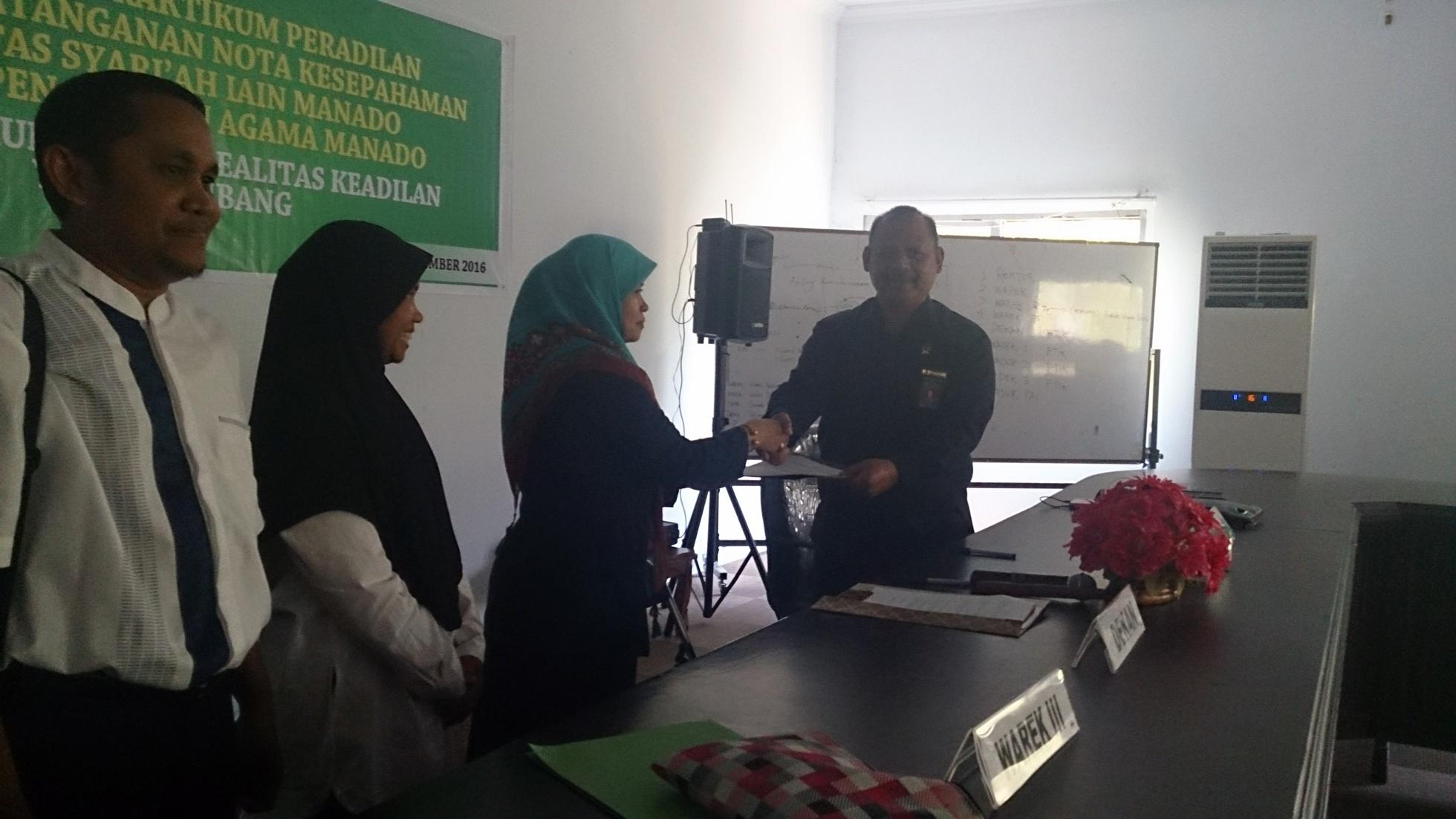 Pembekalan Praktikum IAIN Manado Oleh Ketua Pengadilan Agama Manado