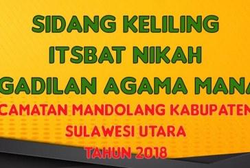 Pengadilan Agama Manado Menggelar Itsbat Nikah di Kabupaten Minahasa