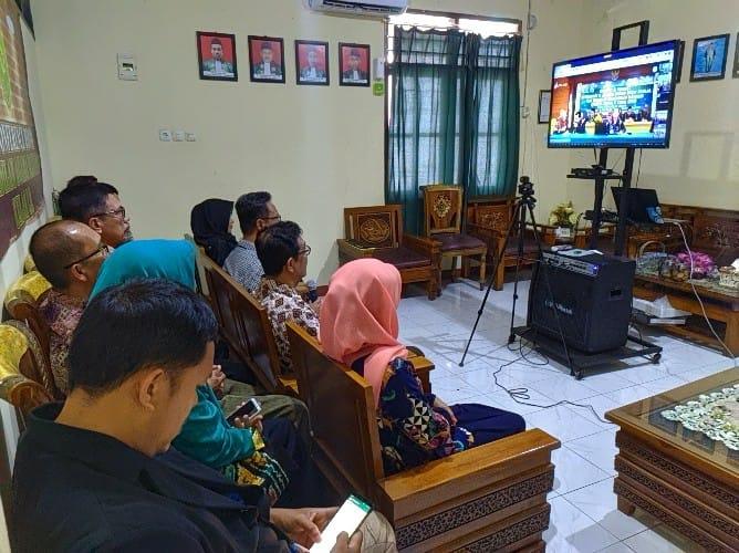 Lakukan Telekonfrensi, PTA Manado Evaluasi Implementasi 9 Aplikasi Inovasi di PA Manado
