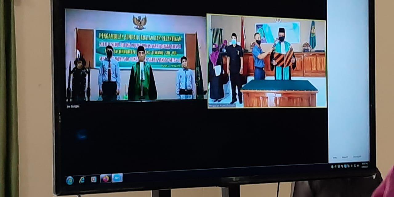 Ketua PA Manado Lantik Hakim Melalui Telekonfrence