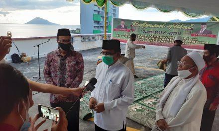 Ketua PA Manado Bersama Kakanwil Kemenag Sulut Menyampaikan Hasil Rukyatul Hilal 1 Syawal 1441 H