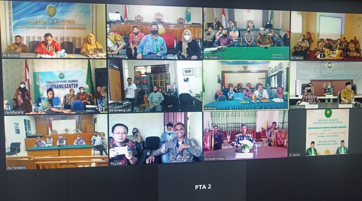 Launching aplikasi SIPAMAN saat acara Halal bi Halal keluarga Besar PTA Manado