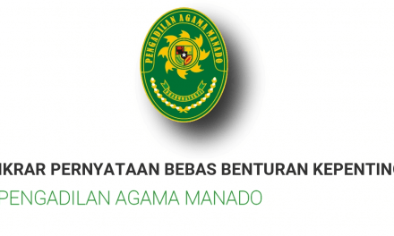 Aparatur Pengadilan Agama Manado Ikrarkan Pernyataan Bebas Benturan Kepentingan