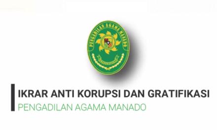 Ikrar Anti Korupsi bergema di Pengadilan Agama Manado