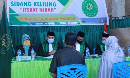 Pengadilan Agama Manado Melaksanakan Sidang Keliling di Desa Kauditan