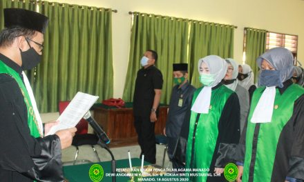 Ketua PA Manado melantik 2 Hakim baru