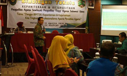 Ketua PA Manado berikan Materi tentang Elitigasi dalam Bimtek Kepaniteraan dan Kejurusitaan sewilayah PTA Manado