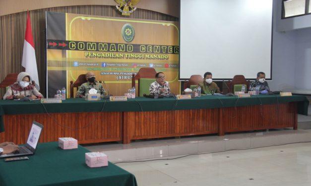 Ketua bersama Sekretaris PA Manado Menghadiri Rapat Persiapan peresmian Kantor baru Pengadilan Terpadu
