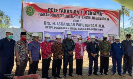 Ketua PA Manado Menghadiri Acara Peletakan Batu Pertama PA Lolak