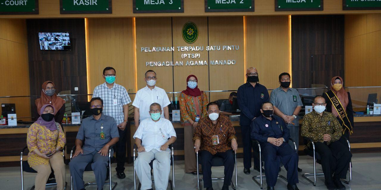Pengadilan Agama Manado Kelas 1A Mendapat Kunjungan Dari BAPENNAS RI
